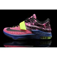 Cheap KD 7 Pink Blue Yellow Basketball Shoes For Sale Discount Online