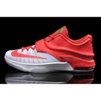 Cheap Nike KD 7 Christmas Bright Crimson/Ivory-Emerald Green Discount Online