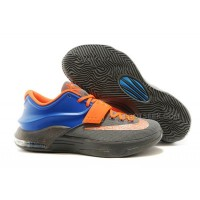 Cheap NIKE KD 7 Photo Blue Grey Orange Speckle Discount Online