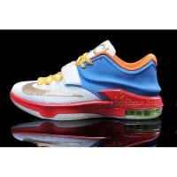 Cheap Nike KD 7 White Blue Yellow Orange Red Gold Discount Online
