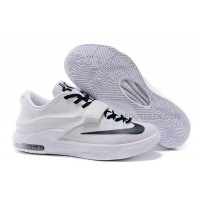 Nike KD 7 All White And Black Basketball Shoes Discount Online