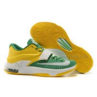 Nike KD 7 Green Yellow White Mens Shoes Discount Online