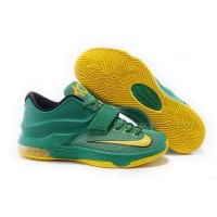 Nike KD 7 Green Yellow Mens Shoes Discount Online