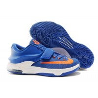 Nike Kevin Durant KD 7 Royal Blue Team Orange White Free Shipping