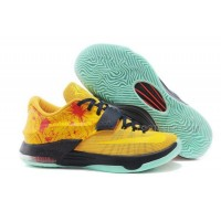Hot Nike KD 7 ID Yellow Black Red Mint Basketball Shoes
