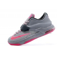 """For Sale Nike KD 7 (VII) """"Calm Before The Storm"""" Grey/Hyper Punch-Light Magnet Grey On Sale Discount Online"""
