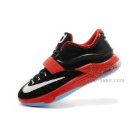 For Sale Nike KD 7 (VII) Black/Action Red-White For Cheap Discount Online