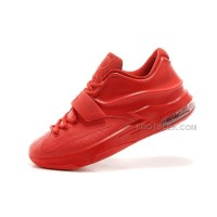 "For Sale Nike KD 7 (VII) ""Red Snake"" All Red Leather For Cheap Discount Online"