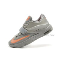 "For Sale Cheap Nike KD 7 (VII) ""Texas"" Metallic Silver/Team Orange Discount Online"