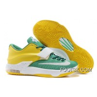 "Online Nike Kevin Durant KD 7 VII ""Draft Day"" Apple Green/Yellow Strike-White"