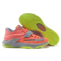 "Nike Kevin Durant KD 7 VII ""35000 Degrees"" Bright Mango/Space Blue/Light Magnet Grey Super Deals"