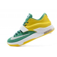 "On Sale Nike KD 7 (VII) ""Draft Day"" Apple Green/Yellow Strike-White For Sale Discount Online"