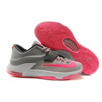 """Girls Nike KD 7(VII) GS """"Calm Before The Storm"""" Grey/Hyper Pink In Women Size For Sale Discount Online"""