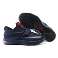 "Cheap Nike KD 7 ""Jeans"" Black/Navy Blue For Sale Discount Online"