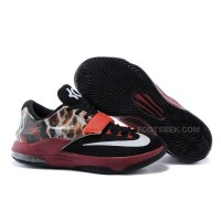 "Nike KD 7 Basketball Shoes ""Lighting"" Black Burgundy Discount Online"