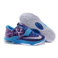 "Nike KD 7 Basketball Shoes ""Lighting"" Blue Purple Silver Discount Online"