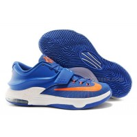 Nike KD 7 Basketball Shoes Royal Blue/White-Orange Discount Online
