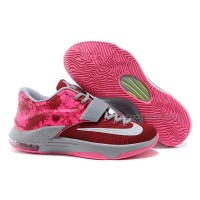 "Cheap Nike KD 7 Shoes ""Crown Jewel"" Burgundy-Grey/Hyper Pink Discount Online"