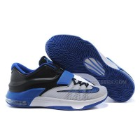 Nike KD 7 Basketball Shoes White-Black/Royal Blue Discount Online