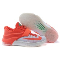 "Cheap Nike KD 7 ""Christmas Egg Nog"" Bright Crimson/Ivory-Emerald Green Discount Online"
