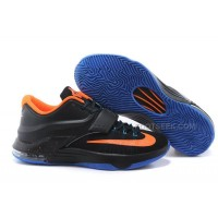 Nike KD 7 Basketball Shoes Black Orange Blue Discount Online