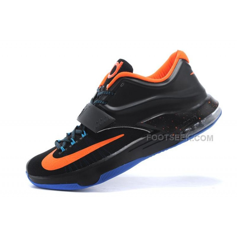 new product 9f9c0 2e43d Nike KD 7 Basketball Shoes Black Orange Blue Discount Online ...