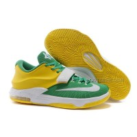 "Cheap Nike KD 7 ""Oregon Ducks"" Green Yellow White Discount Online"