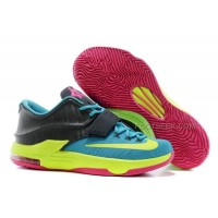 "For Sale Nike KD 7 ""Carnival"" Hyper Jade/Volt-Hyper Pink-Dark Base Grey Discount Online"