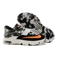 For Sale Nike KD 7 Fireworks Print Black White Orange Discount Online