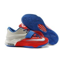 For Sale Nike KD 7 Red Silver Blue Discount Online
