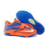 Cheap Nike KD 7 Team Orange/Photo Blue-White Discount Online