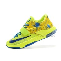 On Sale Nike KD 7 (VII) Custom Volt/Yellow-Royal Blue For Sale Discount Online