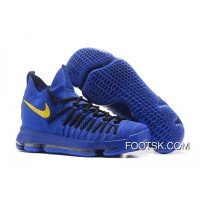Nike Air Zoom KD 9 Elite Royal Blue/Yellow Basketball Shoes New Style