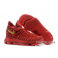 Nike Air Zoom KD 9 Elite Varsity Red/Gold Basketball Shoes For Sale
