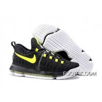 2016 Nike KD 9 Black Yellow Men's Basketball Shoes New Release PTKC6KN