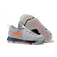 2016 Nike KD 9 Galaxy – Cool Grey Total Orange Black New Style PFDRHQ4