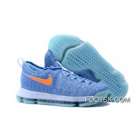 2016 Nike KD 9 University Blue/Orange Men's Basketball Shoes Best 2iwjY