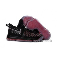 Free Shipping Nike KD 9 Grade School Black Red
