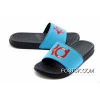 Nike KD Black Blue Red Slippers New Release