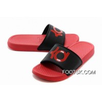 New Release Nike KD Red Black Slippers