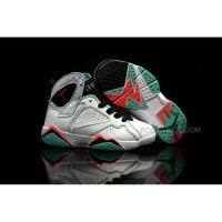 Air Jordan 7 Retro GS Verde White Black Verde Infrared 705417 016 Kids Shoes