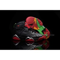 Air Jordan 7 VII Retro Marvin The Martian Black University Red Poison Green 304775 029 Kids Shoes