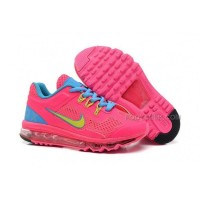 Nike Air Max 2013 Kids Shoes Anti Skid Wearable Breathable Children Sneakers Pink Sky Blue