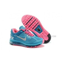 Nike Air Max 2013 Kids Shoes Anti Skid Wearable Breathable Children Sneakers Blue Pink