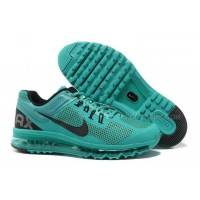 Nike Air Max 2013 Kids Shoes Anti Skid Wearable Breathable Children Sneakers Dark Green