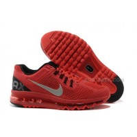 Nike Air Max 2013 Kids Shoes Anti Skid Wearable Breathable Children Sneakers Red Black
