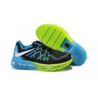 Nike Air Max Kids Shoes Anti Skid Wearable Breathable Sneakers Black Blue Fluorescent Green