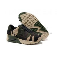 Nike Air Max 90 Hyperfuse Kids Running Shoes Children Sneakers Green Black Camouflage