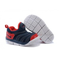 Nike Anti Skid Kids Wearable Breathable Caterpillar Running Shoes Dark Blue Red