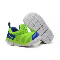 Nike Anti Skid Kids Wearable Breathable Caterpillar Running Shoes Fluorescent Green Blue